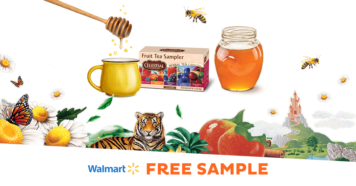 Enjoy a cupful of flavor with a Celestial Seasonings® Tea sample at Walmart!
