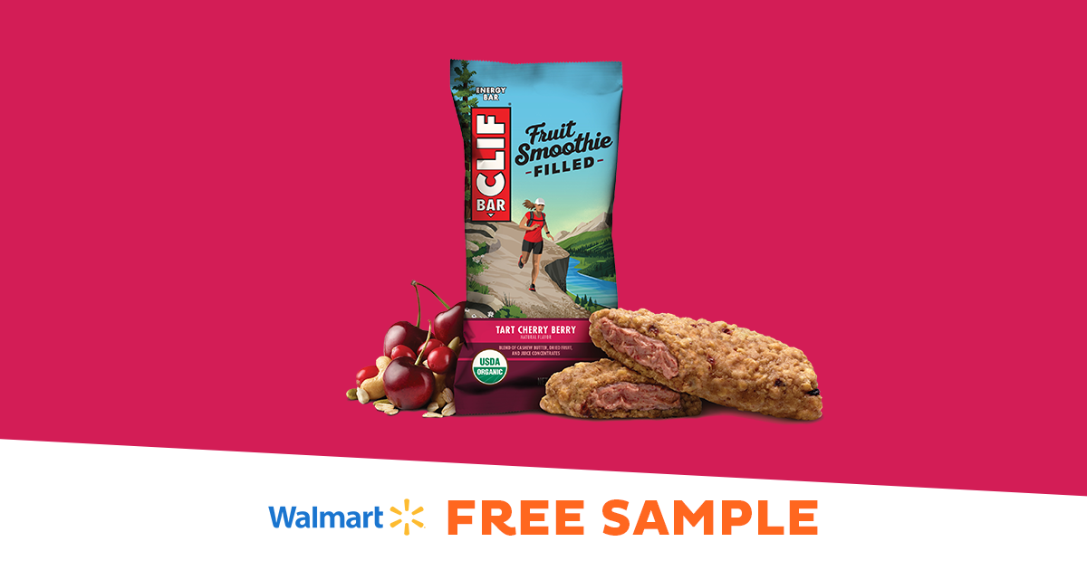 Sample CLIF® Fruit Smoothie Filled Energy Bars at Walmart!